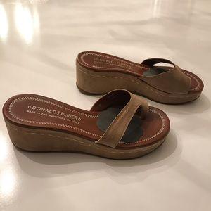 Donald J Pliner Tan Sandals